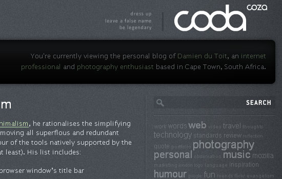 coda.coza - Screenshot