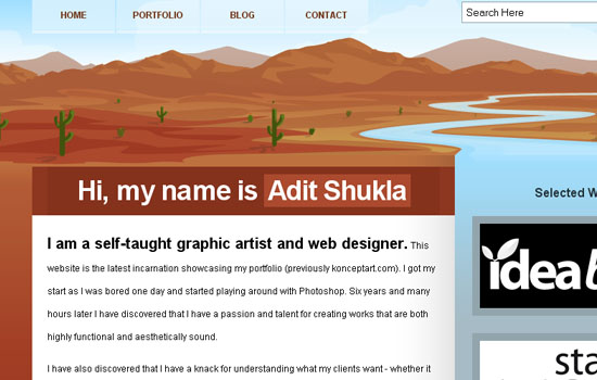 Portfolio of Adit Shukla - Screenshot