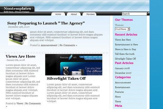 Cool News CMS theme/tema for WordPress som CMS