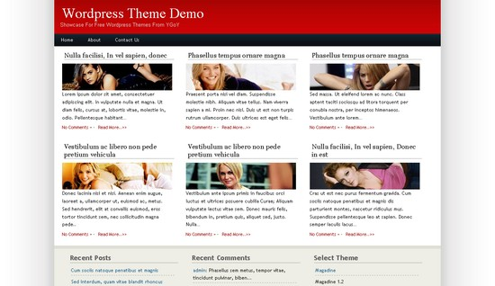 Magadine 1.2 CMS theme/tema for WordPress som CMS