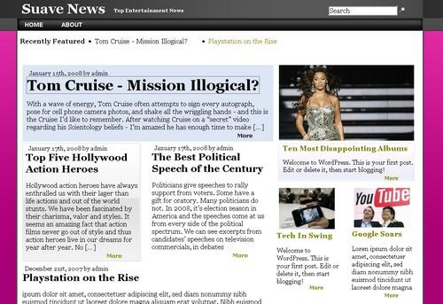 Smooth News tema/theme for WordPresss