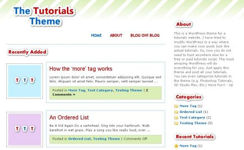 Tutorial tema/theme for WordPress