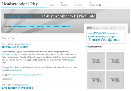 The Studio tema/theme for WordPress