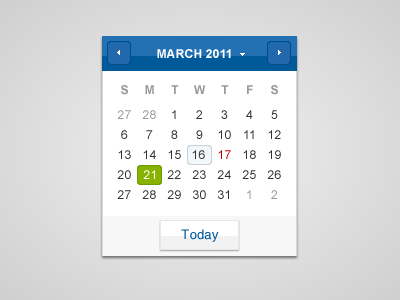 shot 13004532401 60 User Interface Calendar Inspirations and Downloads