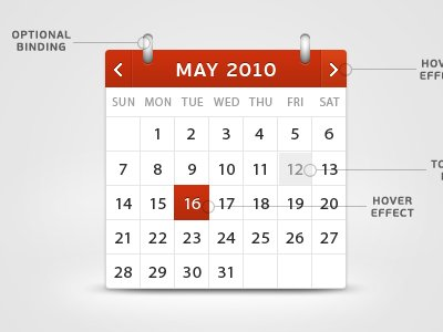 shot 12737375121 60 User Interface Calendar Inspirations and Downloads