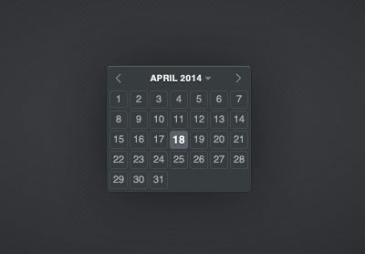 Calendar Datepicker 60 User Interface Calendar Inspirations and Downloads