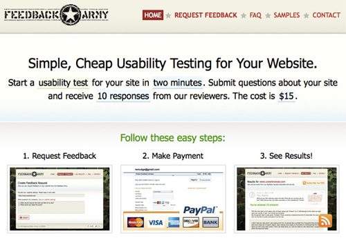 feedbackarmy 25 Tools to Improve Your Websites Usability