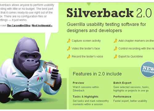 silverbackapp 25 Tools to Improve Your Websites Usability