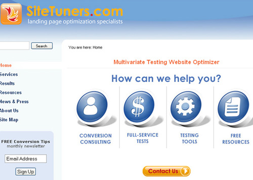 sitetuners 25 Tools to Improve Your Websites Usability