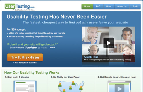 usertesting 25 Tools to Improve Your Websites Usability