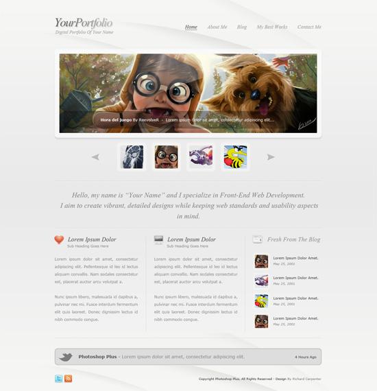 Clean Style Portfolio Layout