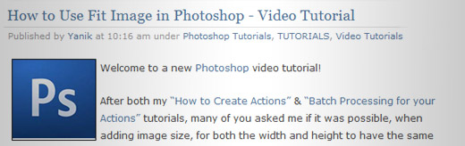 How to Use Fit Image in Photoshop - Video Tutorial - screen shot.