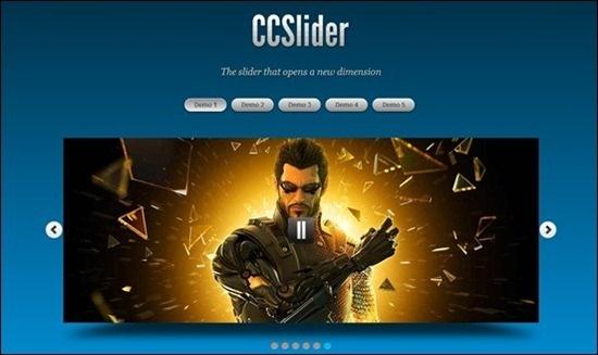 CCSlider – jQuery 3d Slideshow Plugin