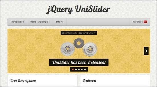 jQuery UniSlider