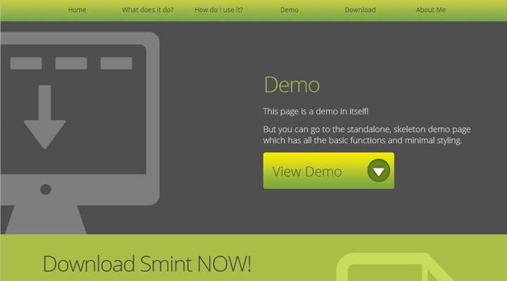 smint sticky menu navigation jquery plugin fixed