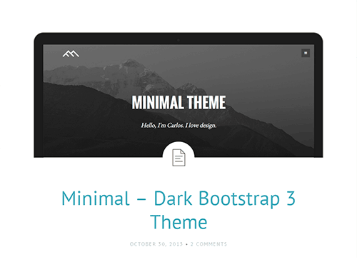Bootstrap主题 - minimal