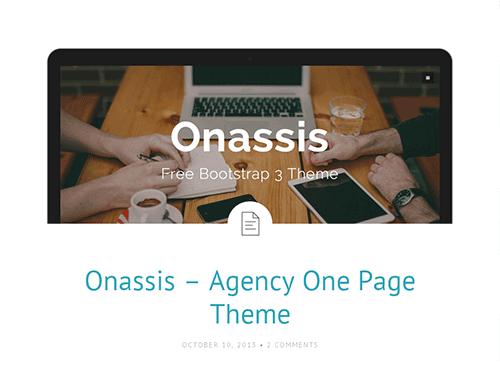 Bootstrap主题 - onassis