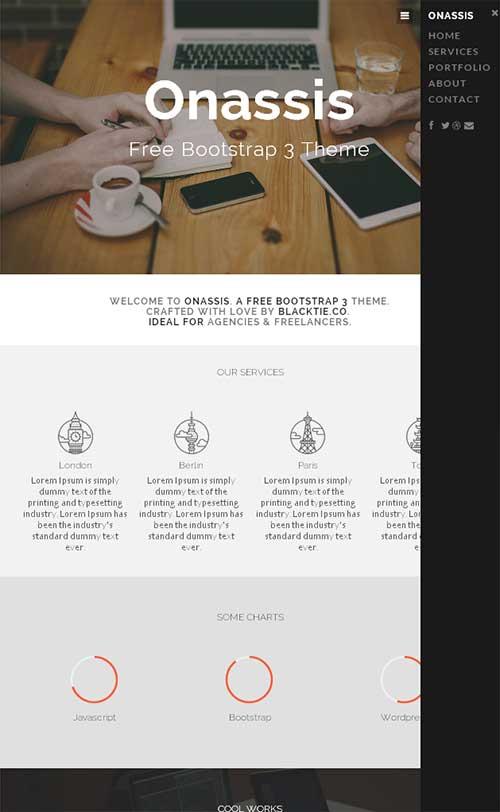 Bootstrap主题 - onassis-demo