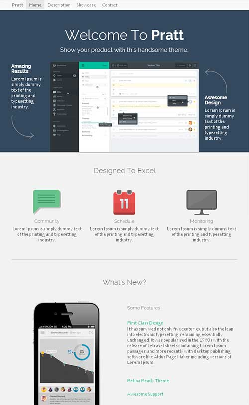 Bootstrap主题 - pratt-demo