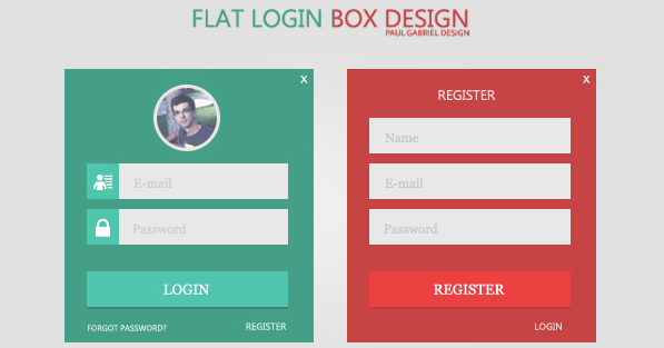 flat login design 6